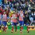 Fernando Torres Juanfran Photos - (From Lto R) Diego Godin, Matias Kranevitter, Juanfran, Jose Maria Gimenez, Fernando Torres and Gabi Fernandez of Club Atletico de Madrid celebrate   after they beat Real 1-0 in the La Liga match between Real Madrid CF and Club Atletico de Madrid at Estadio Santiago Bernabeu on February 27, 2016 in Madrid, Spain. - Real Madrid CF v Club Atletico de Madrid - La Liga