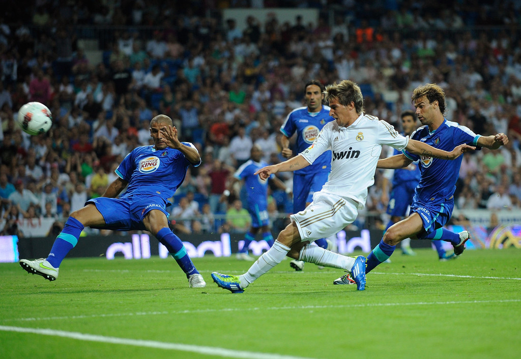 Real Madrid Vs Getafe Cf: Fabio Coentrao In Real Madrid CF V Getafe CF