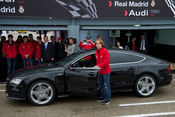 Need For Speed: Real Madrid players test drive their new free Audi motors on a racecourse