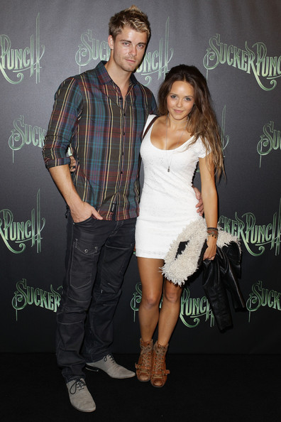 Rebecca Breeds and Luke Mitchell - Sucker Punch Australian Premiere