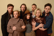 (L-R) Actors Aden Young and J. Smith-Cameron, director Raymond McKinnon, actors Abigail Spencer, Clayne Crawford, Adelaide Clemens and Luke Kirby pose for a portrait during the 2013 Sundance Film Festival at the Getty Images Portrait Studio at Village at the Lift on January 18, 2013 in Park City, Utah.