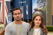 Lucy Watson and James Dunmore attend the Red Bull Air Race World Championships at Ascot Racecourse on August 16, 2015 in Ascot, England.