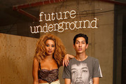 Lion Babe (Jillian Hervey and.Lucas Goodman) during the Red Bull Studios Future Underground second night at Collins Music Hall on September 10, 2015 in London, England.