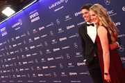 Laureus Academy Member Missy Franklin and Hayes Johnson arrive for the 2019 Laureus World Sports Awards on February 18, 2019 in Monaco, Monaco.