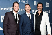 (L-R) Actors Brent Antonello and Adam Senn, and executive producer James LaRosa attends the 27th Annual GLAAD Media Awards at the Beverly Hilton Hotel on April 2, 2016 in Beverly Hills, California.