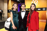 Nadine Warmuth, Tim Oliver Schultz and guest arrive for the 21st GQ Men of the Year Award at Komische Oper on November 07, 2019 in Berlin, Germany.