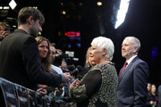 Judi Dench and David Parfitt are interviewed at the 'Red Joan' premiere and Golden Icon Award during the 14th Zurich Film Festival at Festival Centre on October 03, 2018 in Zurich, Switzerland.