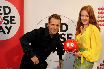 Barbara Meier Red Nose Day Photocall