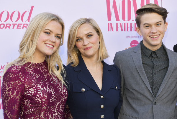 The Hollywood Reporter's Annual Women in Entertainment Breakfast Gala - Arrivals [the hollywood reporter,blond,fashion,event,premiere,suit,arrivals,deacon phillippe,ava elizabeth phillippe,reese witherspoon,l-r,hollywood,hollywood reporter,milk studios,annual women in entertainment breakfast gala]