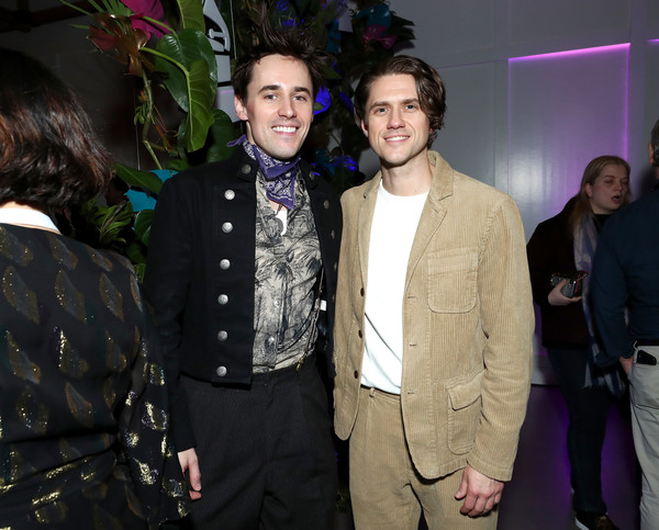 62nd GRAMMY Nominee Celebration [event,fashion,suit,formal wear,fun,ceremony,fashion design,party,wedding reception,premiere,reeve carney,aaron tveit,new york city,grammy nominee celebration,aaron tveit,karen olivo,reeve carney,grammy awards,moulin rouge,musical theatre,theatre,broadway theatre,the recording academy]