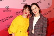 Refinery29 Creative Director Piera Gelardi (L) and Zoe Lister-Jones attend Refinery29 Presents 29Rooms Los Angeles 2018: Expand Your Reality at The Reef on December 4, 2018 in Los Angeles, California.