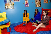 (L-R) Hannah Simone, Angelique Cabral and Zoe Lister-Jones interact with Teen Bedroom at Refinery29 Presents 29Rooms Los Angeles 2018: Expand Your Reality at The Reef on December 4, 2018 in Los Angeles, California.