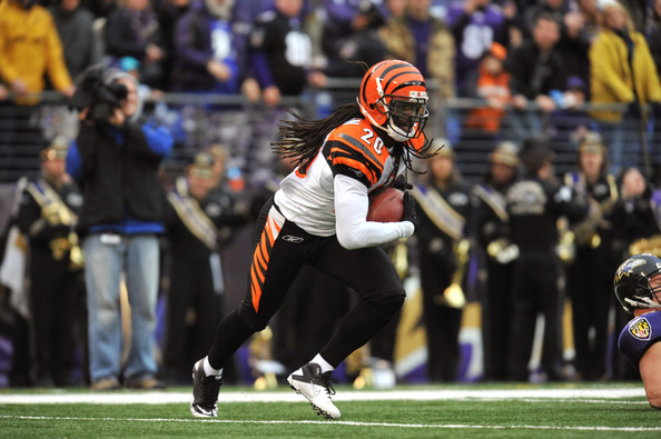 Reggie Nelson Reggie Nelson #20 of the Cincinnati Bengals returns an endzone interception against the Baltimore Ravens at M&T Bank Stadium on January 2, 2011 in Baltimore, Maryland. The Ravens defeated the Bengals 13-6.
