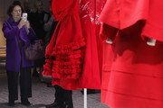 """A general view of Comme Des Garcons dresses during the """"Rei Kawakubo Comme Des Garcons Art Of The In-Between"""" Presentation as part of the Paris Fashion Week Womenswear Fall/Winter 2017/2018 on March 6, 2017 in Paris, France."""