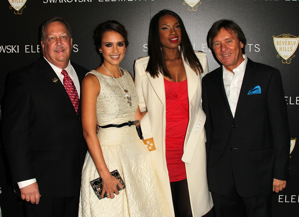 Jessica Alba Hosts Swarovski Elements And Rodeo Drive Holiday Lighting Ceremony