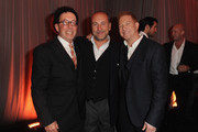 (L-R) Producer Mark Canton, Producer Gianni Nunnari and Producer/ CEO Relativity Media Ryan Kavanaugh attend Relativity Media's Immortals premiere after party presented in RealD 3 at Nokia Theatre L.A. Live on November 7, 2011 in Los Angeles, California.