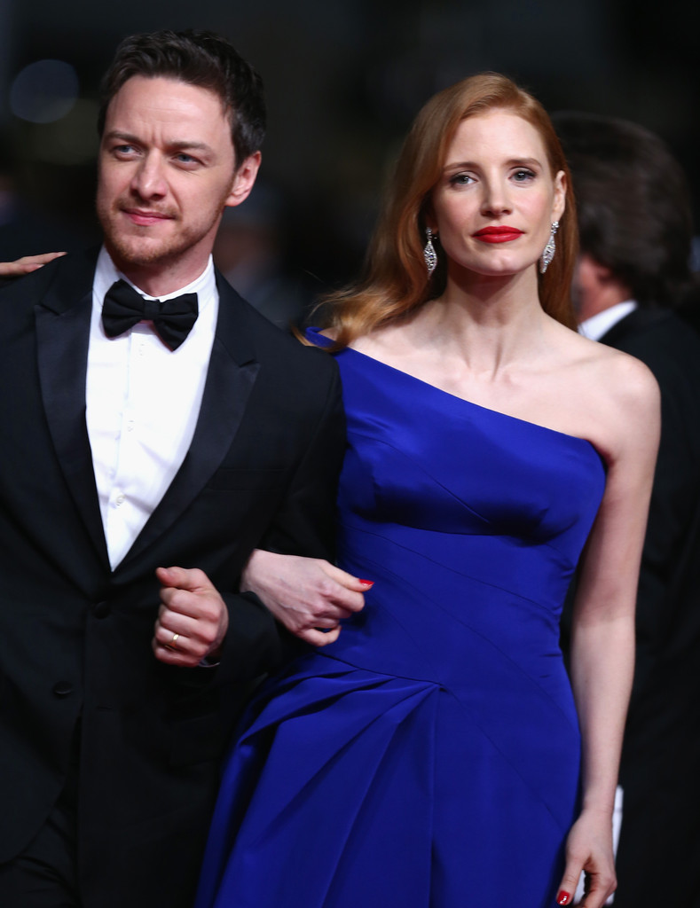 James mcavoy and jessica chastain kiss