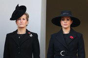 Sophie, Countess of Wessex and Meghan, Duchess of Sussex attend the annual Remembrance Sunday memorial at The Cenotaph on November 10, 2019 in London, England. The armistice ending the First World War between the Allies and Germany was signed at Compiègne, France on eleventh hour of the eleventh day of the eleventh month - 11am on the 11th November 1918.