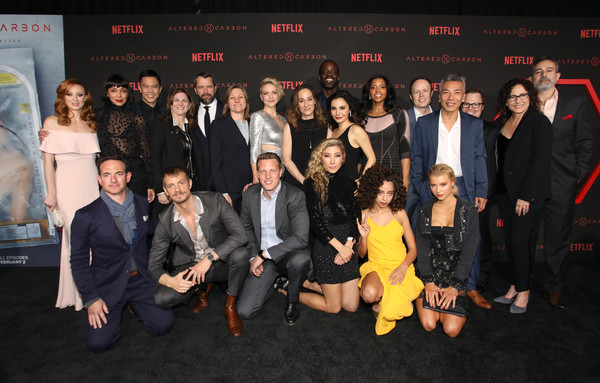 "World Premiere of the Netflix Original Series ""Altered Carbon"" [social group,event,team,premiere,formal wear,suit,crowd,netflix original series ``altered carbon,world premiere,california,los angeles]"