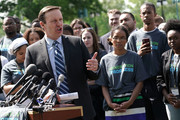 """U.S. Sen. Christopher Murphy (D-CT) speaks during a news conference on gun control May 7, 2018 on Capitol Hill in Washington, DC. Sen. Murphy joined gun-control activists for a news conference """"to demand Congress take immediate action to curb the epidemic of gun violence in America.Ó"""
