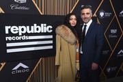 Singer Kiana Lede (L) and Republic Records President, Chief Operating Officer, and Co-FounderAvery Lipman attend Republic Records Celebrates the GRAMMY Awards in Partnership with Cadillac, Ciroc and Barclays Center at Cadillac House on January 26, 2018 in New York City.