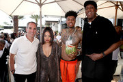 "(L-R) Monte Lipman, Kiana Ledé, Blueface, and Ronald ""Slim"" Williams attend Republic Records Celebrates Their Class Of 2019 In Coachella Valley at Zenyara on April 14, 2019 in Coachella, California."