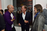 (L-R) CEO of SUNO Max Osterweis RH Chairman & CEO Gary Friedman and Erin Beatty attend the unveiling of RH Modern at RH New York, The Gallery in the Historic Flatiron District on October 22, 2015 in New York City.