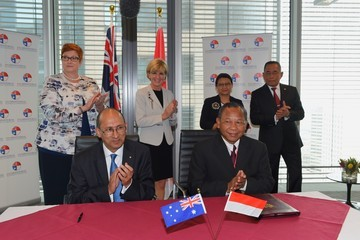 Retno Marsudi Australian and Indonesian Foreign and Defence Ministers Meeting