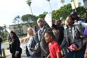 Rev. Al Sharpton leads a rally before the Academy Awards ceremony at Hollywood High School on February 28, 2016 in Los Angeles, California.