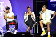 T.I., Candace Owens, and Steven Pargett speak onstage during day 3 of REVOLT Summit x AT&T Summit on September 14, 2019 in Atlanta, Georgia.