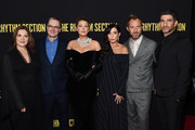 """(L-R) Barbara Broccoli, Mark Burnell, Blake Lively, Reed Morano, Jude Law and Raza Jaffrey attend the screening of """"The Rhythm Section"""" at Brooklyn Academy of Music on January 27, 2020 in New York City."""