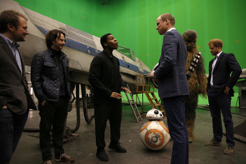 Rian Johnson The Duke of Cambridge and Prince Harry Visit The 'Star Wars' Film Set