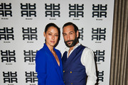 Rebecca Mir and Massimo Sinato attends the Riani after show party during the Berlin Fashion Week Spring/Summer 2019 at Grace Hotel Zoo on July 4, 2018 in Berlin, Germany.