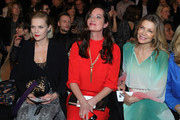 (L-R) Anna Loos, Natalia Woerner and Ursula Karven attend the Riani show during Berlin Fashion Week Autumn/Winter 2020 at Kraftwerk Mitte on January 15, 2020 in Berlin, Germany.