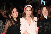 (L-R) Jana Ina Zarrella, Alexandra Lapp and Annette Weber attend the Riani show during Berlin Fashion Week Autumn/Winter 2020 at Kraftwerk Mitte on January 15, 2020 in Berlin, Germany.