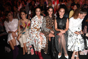 Nadine Warmuth, Anna Julia Kapfelsperger,  Laura Berlin, Ruby O. Fee, Sonja Gerhardt and Lisa Tomaschewsky attend the Riani show during the Berlin Fashion Week Spring/Summer 2020 at ewerk on July 03, 2019 in Berlin, Germany.