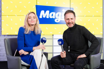 Richard Allinson Emily Blunt Visits Magic Radio
