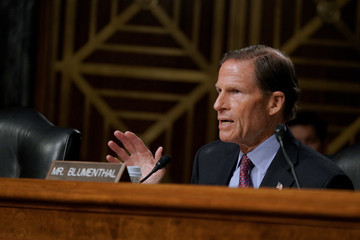 Richard Blumenthal Advocates With Type 1 Diabetes Testify Before The US Senate Special Committee On Aging During The JDRF 2019 Children's Congress In Washington, D.C.