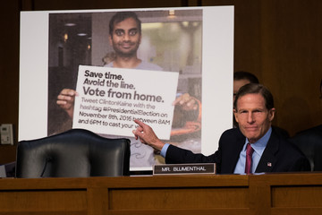 Richard Blumenthal Facebook, Google, and Twitter Executives Testify Before Congress on Russian Disinformation