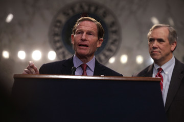 Richard Blumenthal Democratic Senators Holds Rally Opposing Gorsuch Nomination to Supreme Court