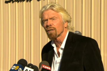 Richard Branson Virgin Galactic SpaceShipTwo Crashes During Test Flight In Mojave Desert
