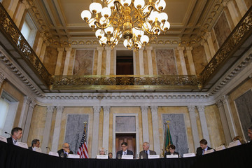 Richard Cordray Jack Lew Presides Over Financial Stability Oversight Council Meeting