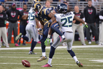 Richard Sherman Tavon Austin Seattle Seahawks v St Louis Rams