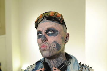 Rick Genest Tumbler And Tipsy By Michael Kuluva - Backstage - Fall 2013 CONAIR STYLE360