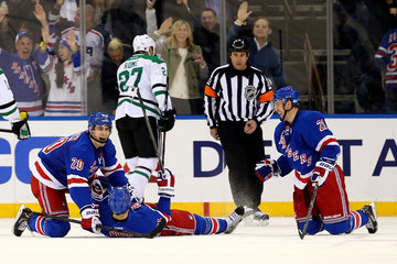 Rick Nash Chris Kreider Dallas Stars v New York Rangers