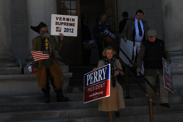 Vermin Supreme Rick Perry Files For Presidential Candidacy In New Hampshire