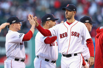 Rick Porcello Division Series - Cleveland Indians v Boston Red Sox - Game Three