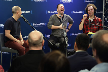 Ricky Gervais Actor and Comedian Ricky Gervais Interviewed for SiriusXM's Town Hall Series With Hosts Jim Norton & Sam Roberts