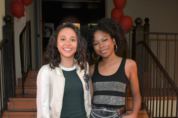 Riele Downs Nickelodeon's 'Escape From Mr. Lemoncello's Library' Premiere Event at Paramount Studios in Hollywood