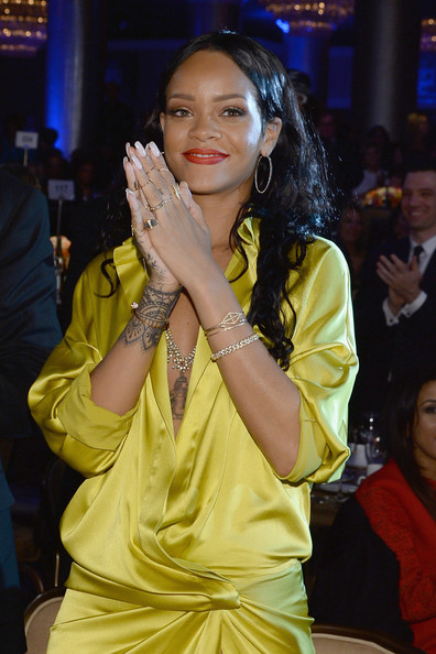 Rihanna - The 56th Annual GRAMMY Awards - Pre-GRAMMY Gala And Salute To Industry Icons Honoring  Lucian Grainge - Show